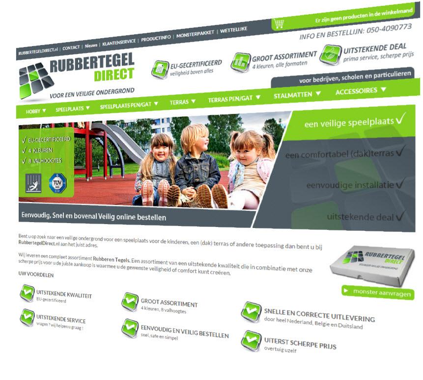 Vernieuwde webshop van RubbertegelDirect.nl