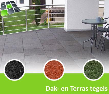 Rubberen Dak- en Terrastegels 50x50x4,0 cm van RubbertegelDirect.nl