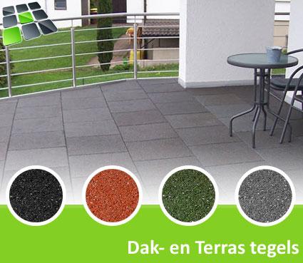 Rubberen Dak- en Terrastegels 50x50x3,0 cm van RubbertegelDirect.nl