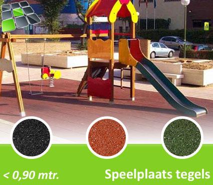 Rubberen Speelplaatstegels 100x100x2,5 cm van RubbertegelDirect.nl