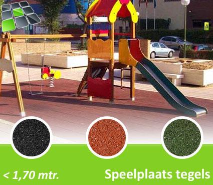 Rubberen Speelplaatstegels 100x100x5,0 cm van RubbertegelDirect.nl
