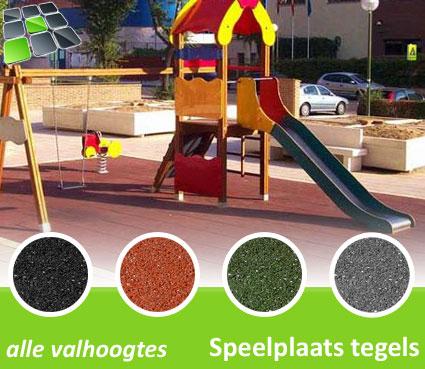 Rubberen Speelplaatstegels 50x50 Hoek van RubbertegelDirect.nl