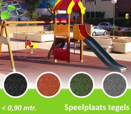 Rubberen Speelplaatstegels 50x50x2,5 cm van RubbertegelDirect.nl
